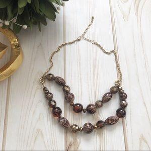 Jewelry - 🆕 Gold Tone Animal Print Bead Necklace